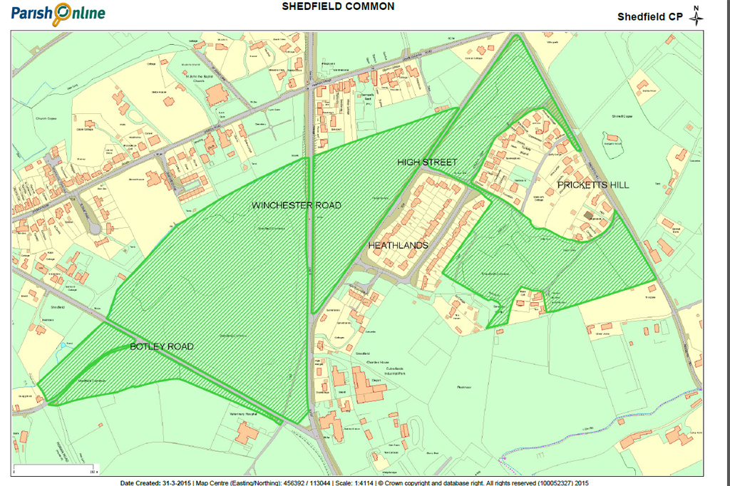 Shedfield Common map